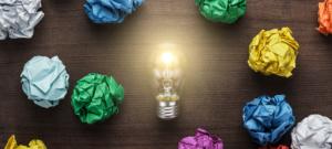 Cloud bright idea innovation light bulb moment